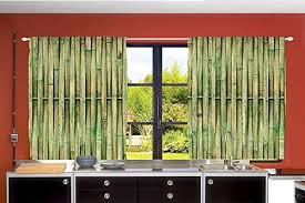 Panels For Windows Decorating Ambesonne Country Home Decor Collection Bamboo Lines Trees Woodsy