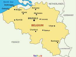 map of begium belgium in map major tourist attractions maps