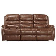 Power Recliner Leather Sofa Metcalf Nutmeg Power Reclining Leather Sofa Weekends Only