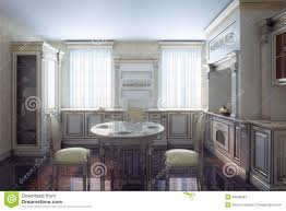 classic kitchen cabinet in provence vintage style stock photo