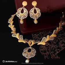 gold necklace sets designs images Gold designer necklace set from josalukkas south india jewels jpg