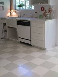 painted kitchen floor ideas diy painted vinyl floors when your budget isn t ready to replace