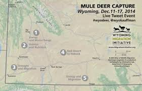 University Of Oregon Map by Usgs And University Of Wyoming Researchers To Share Deer Capture