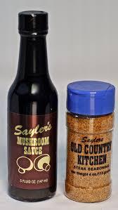 amazon com sayler u0027s gourmet 3 mushroom steak sauce and 2