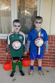 Zombie Halloween Costume Kids Soccer Player Zombie Halloween Costume Halloween Fall