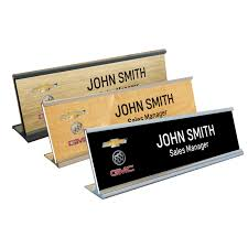 Name Plate Desk Chevrolet Buick Gmc Name Plate With Desk Holder Chevrolet Buick