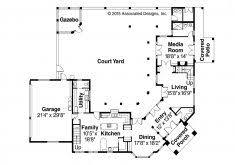 mediterranean floor plans with courtyard amazing mediterranean house plans with courtyards eplans