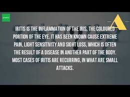 eye pain from light what is iritis of the eye youtube