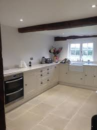 Tile In Kitchen Floor The Pale Cream And Gentle Olive Undertones Of Our Worn Ivory