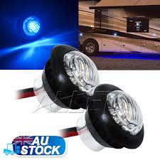 flush mount led lights 12v 2xblue 12v led flush mount car truck trailer mini marker light