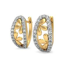 real earrings diamond bali earrings real certified 0 25 ct gold vacation