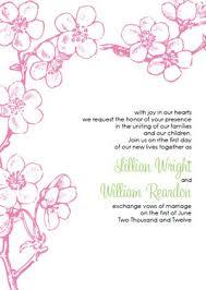 Cherry Blossom Wedding Invitations Cherry Blossom Wedding Invitations Template Best Template Collection