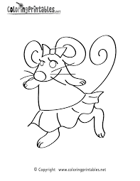 mouse coloring page a free animal coloring printable