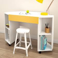 Kids Corner Desk White Nexera Taxi Kids Mobile Corner Desk Hayneedle