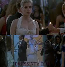 white halter buffy the vampire slayer movie dress movie prom