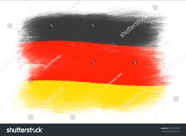 The Germany Flag German Flag Painted Grunge Flag Brush Stock Illustration 377077903