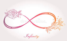 infinity sign with rose stock illustration image of decorative