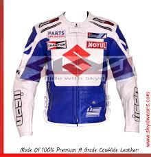 white motorbike jacket suzuki archives skydwears