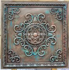 Decorative Ceiling Tile by Pl08 Faux Finishing Tin Ceiling Tiles Antique Multicoloured Color