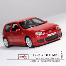 red volkswagen golf free shipping vw golf mk4 r32 red die cast model car maisto 1 24