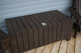modern outdoor storage bench bench decoration