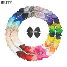 grosgrain ribbon bulk 100pcs lot girl sweet headdress grosgrain ribbon bow knot hair clip