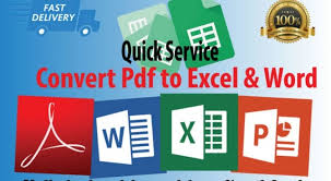 Pdf To Word I Will Convert Pdf To Excel And Convert Pdf To Word