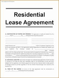 6 rental lease agreement template printable receipt