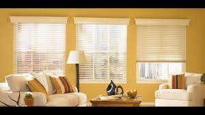 Livingroom Windows by Faux Wood Blinds For Large Windows In Living Room Youtube