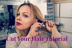 haircuts that show your ears diy at home haircut how to cut your own hair tutorial youtube