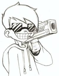 cool drawing pictures how to draw spray can clown cool drawing