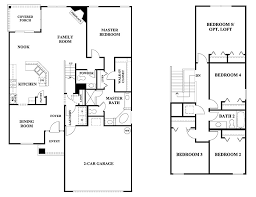 5 bedroom floor plans 2 story glen st johns community in jacksonville florida