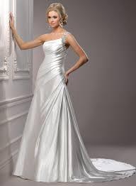 one shoulder wedding dress satin wedding dress with one shoulder sang maestro
