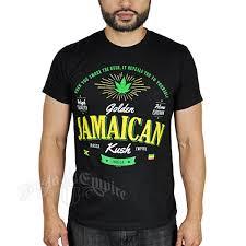 Jamaican Flag Shirt Seven Leaf Golden Jamaican Strain Black T Shirt U2013 Men U0027s
