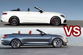 convertible mercedes 2016 bmw m4 convertible vs 2016 mercedes c63 s amg cabriolet youtube