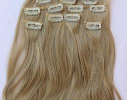 clip on extensions hair etsy