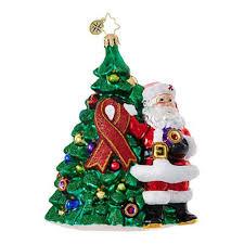 radko aids 2017 ribbon claus tree ornament new 2017