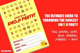 ultimate emoji party idea guide snacks crafts activities more