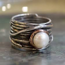 hippie wedding ring pearl ring ideas collections