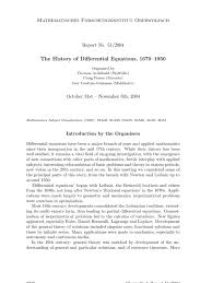 the history of differential equations 1670 u20131950 curve equations
