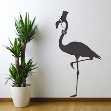 wall vinyl flamingo vinyl wall sticker by oakdene designs