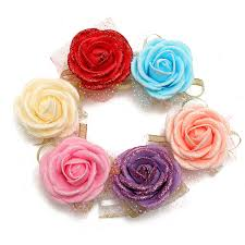 wrist corsage supplies bridal bridesmaid foam artificial flower elastic band wrist
