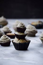 sesame cupcakes try the gray stuff it s delicious black sesame cupcakes