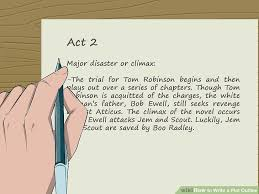 4 ways to write a plot outline wikihow