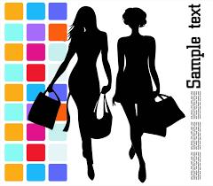 fashion shopping beauty silhouette 04 vector free vector 4vector