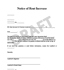 Rent Increase Letter Ma notice for rent increase city espora co