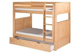 Harriet Bee Oakwood Natural Twin Wood Bunk Bed With Trundle - Wooden bunk bed with trundle