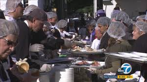 1 ton of turkey served on la s skid row by fred mission