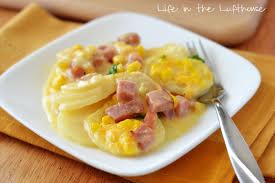 thanksgiving scalloped potatoes scalloped potatoes ham and corn bake