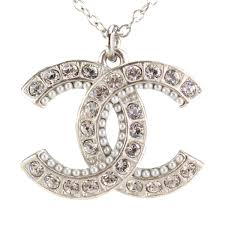 silver rhinestone necklace images Bighit the total brand wholesale chanel chanel here mark jpg